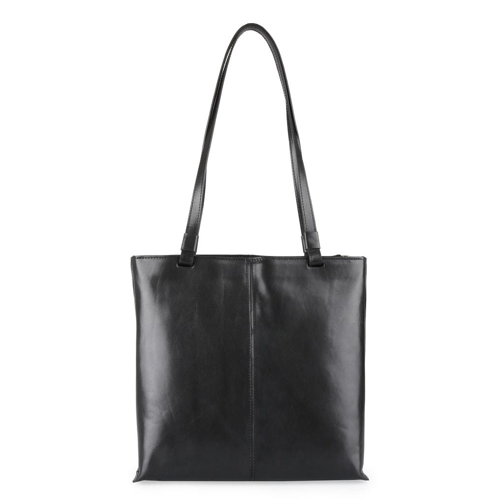 Elega Dámská kožená kabelka přes rameno 67905 - černá a3acf16498d