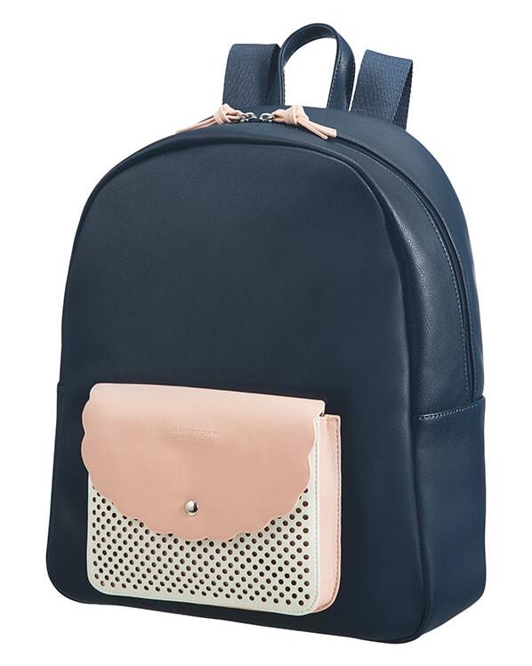 """American Tourister Dámský batoh na notebook Luna Pop 65G 22 l 14.1"""" - modrá"""