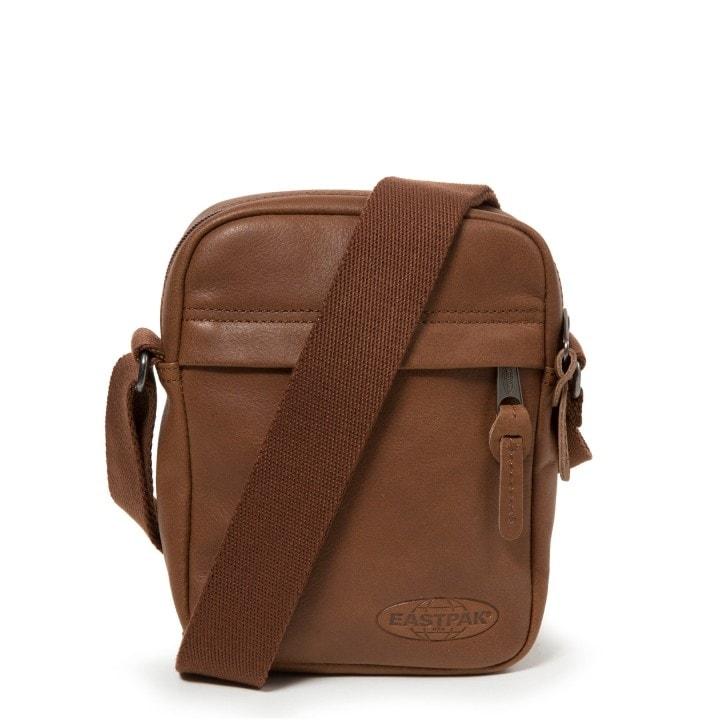 EASTPAK Kožená taška přes rameno The One Brownie EK04508N - hnědá