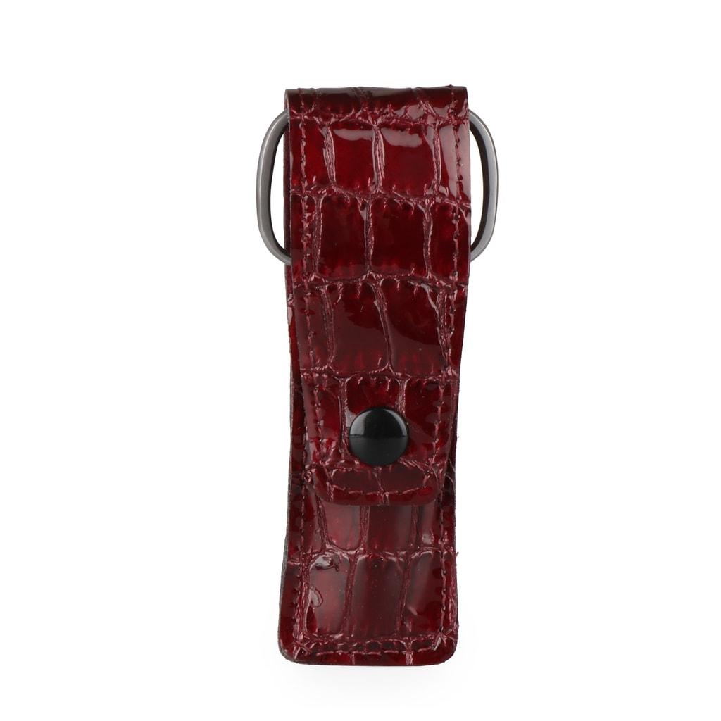 Solingen Kapesní kožená sada na manikúru 105-86 - vínová