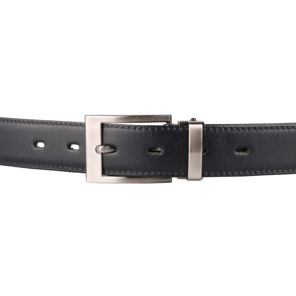 Pánský kožený společenský opasek 30-020-3-60 černý - Penny Belts ... 3f818825d8