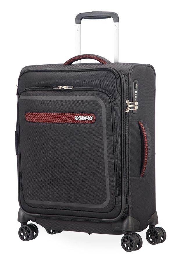 American Tourister Kabinový cestovní kufr AirBeat Spinner EXP 45G 40/43 l - černá