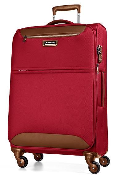 March Cestovní kufr Flybird 67/80 l - červená