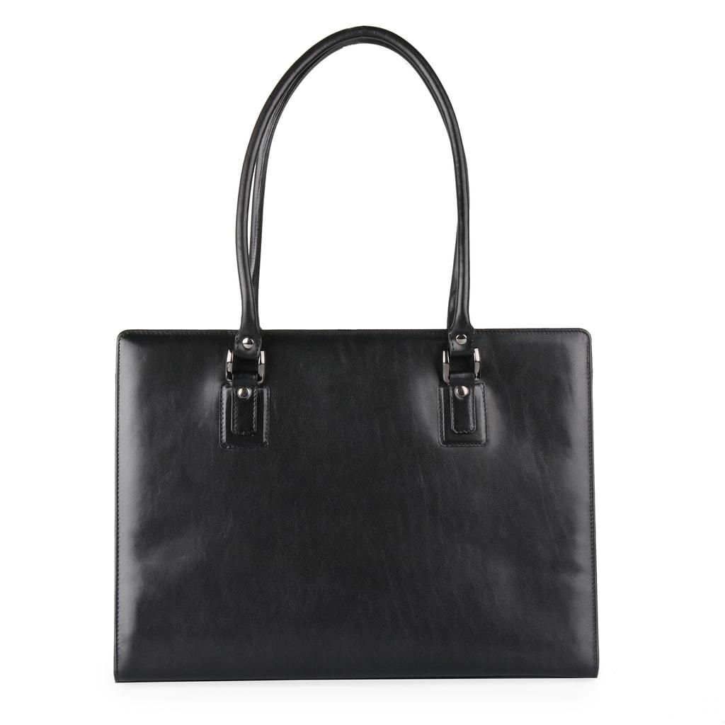 Dámská kožená kabelka přes rameno 1299213 černá - Hajn - Kabelky ... 87bc6f2908e