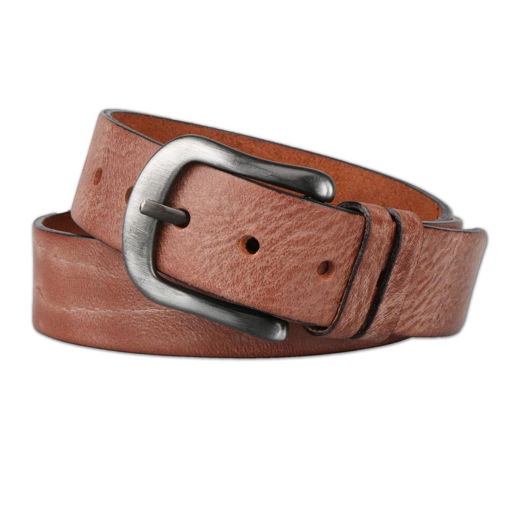 Penny Belts Pánský kožený opasek 2845, hnědý