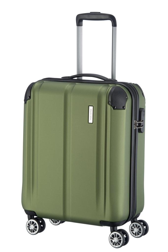 Travelite Kabinový cestovní kufr City 4w S Green 40 l