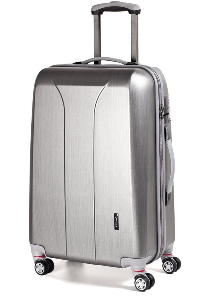 March Cestovní kufr New Carat 105 l - stříbrná