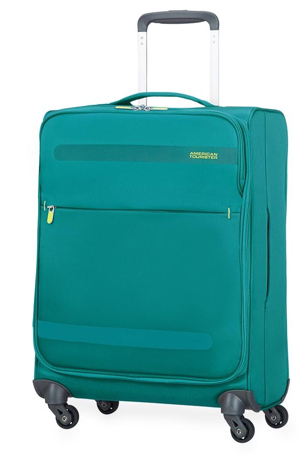 American Tourister Kabinový cestovní kufr Herolite Super Light Spinner 26G*002 42 l - zelená