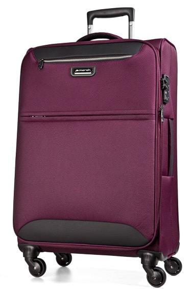 March Cestovní kufr Flybird 67/80 l - fialová