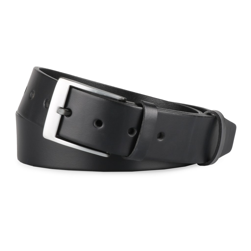 Penny Belts Pánský kožený opasek F6 - černý