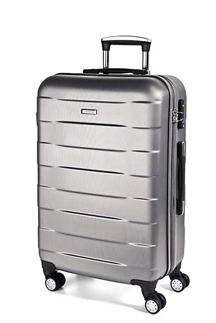 March Kabinový cestovní kufr Bumper 34,5 l - stříbrná