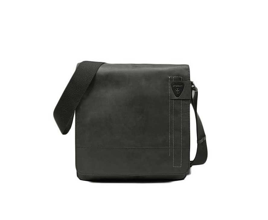 Strellson Pánská kožená taška přes rameno Richmond 1164 - černá