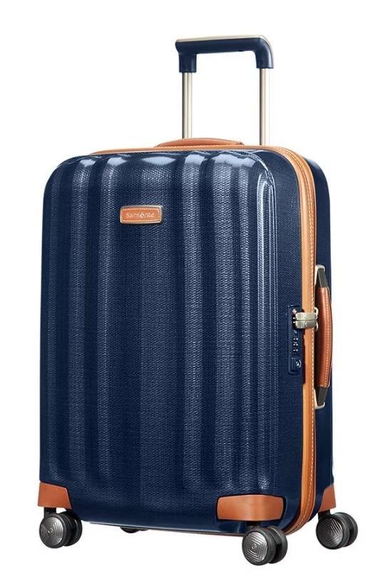 Samsonite Kabinový cestovní kufr Lite-Cube DLX Spinner 82V 43,5 l - tmavě modrá