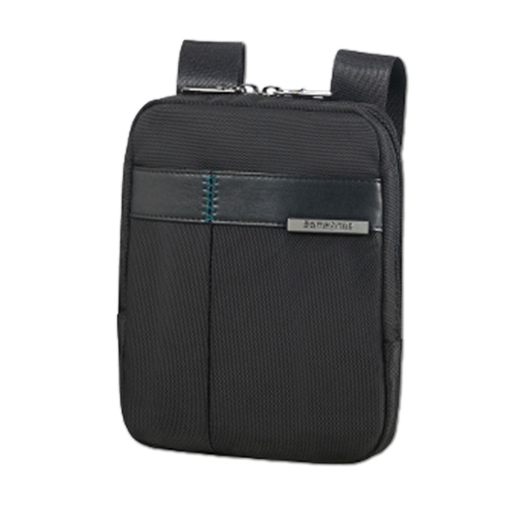 """Samsonite Pánská kožená taška přes rameno 7,9"""" Formalite 62N-001 - černá"""