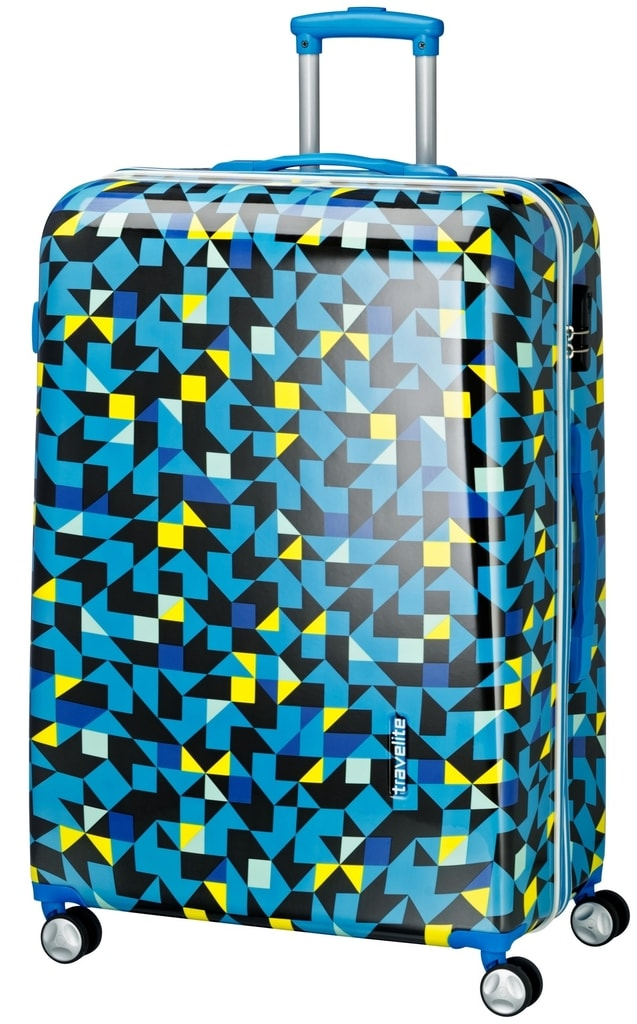 Travelite Velký cestovní kufr Campus Hardshell 102 l P38355 modrá