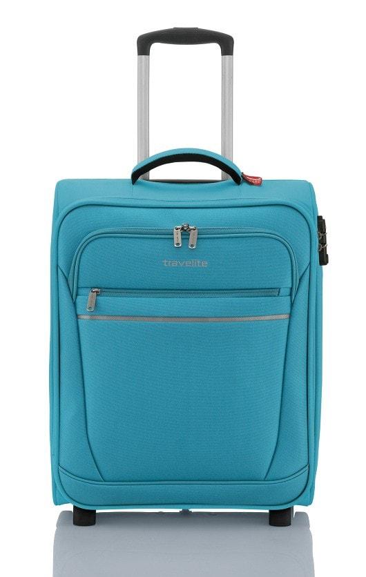 Travelite Kabinový cestovní kufr Cabin 2w 44 l - tyrkysová