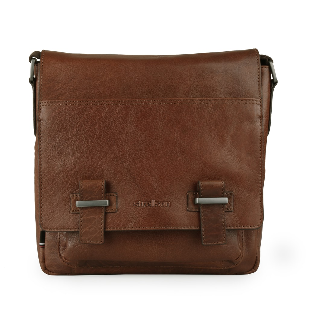 Strellson Pánská kožená taška přes rameno Sutton 4010002574 - koňaková