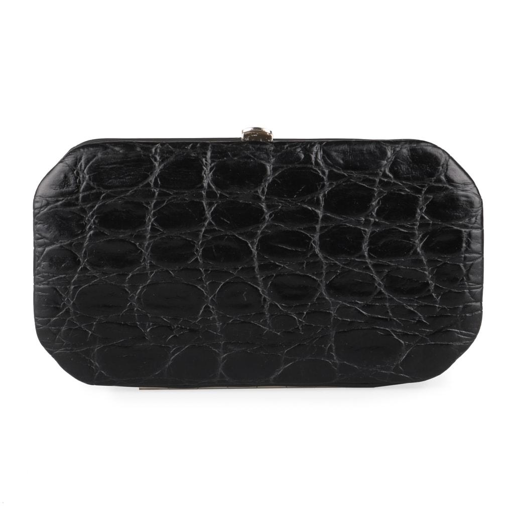 Solingen Kožená sada na manikúru krokodýlí matná 770-89 - černá