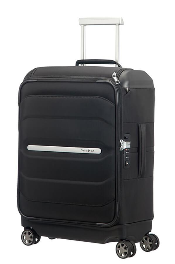 Samsonite Kabinový cestovní kufr Flux Soft Spinner 38 l - černá