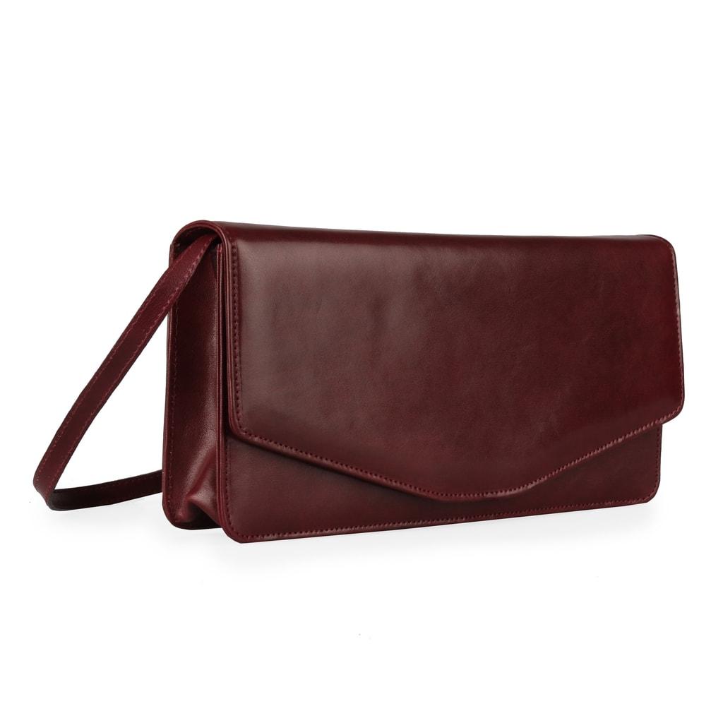 Dámska kožená listová kabelka1008015 červená - Hajn - Listové ... 096cc1b1053