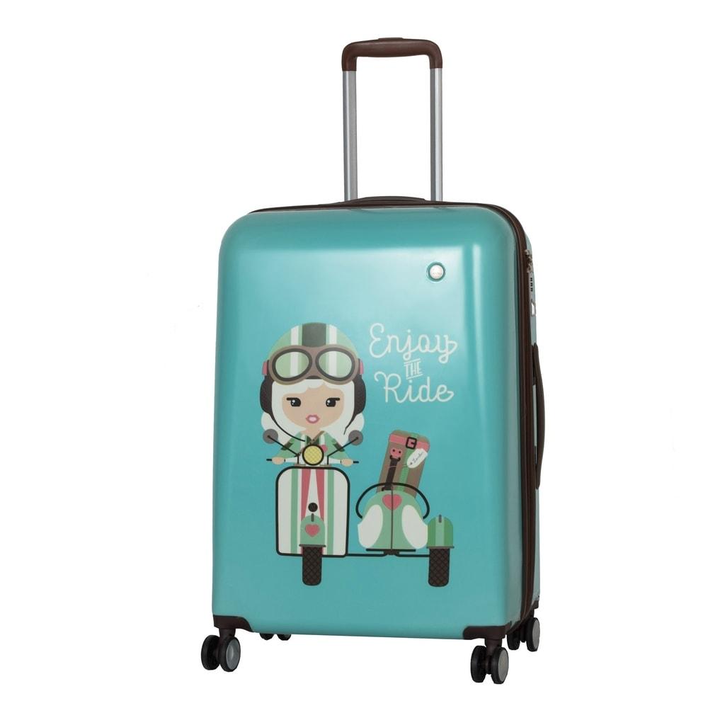 Travelite Cestovní kufr Lil' Ledy 4w M hardcase Turquoise 74248-23 76/87 l