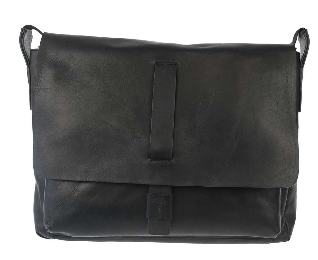 JOOP! Pánská kožená taška přes rameno Loreto 4140003466 - černá