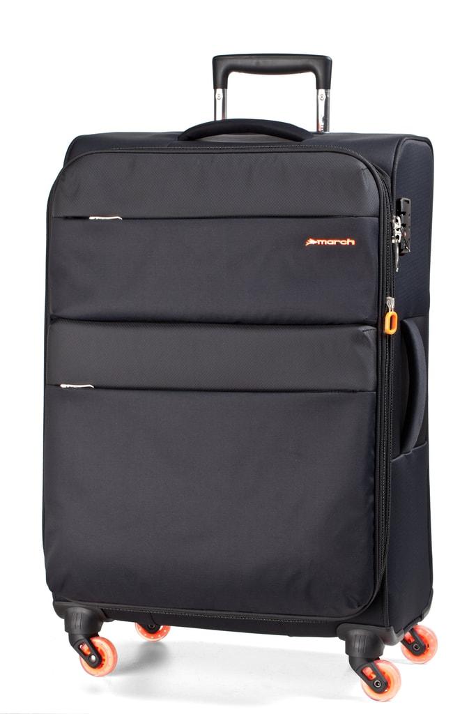 March Cestovní kufr Elle 69,5/82 l - černá