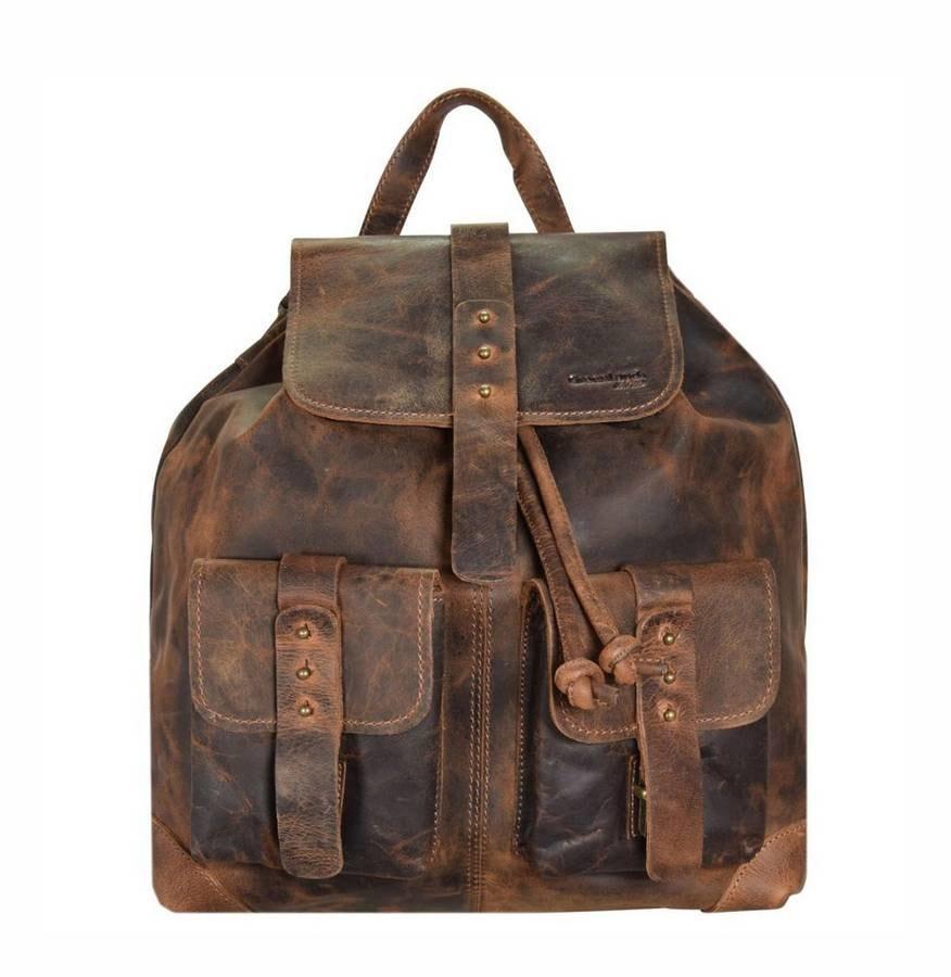 GreenLand Kožený batoh 2512-22 Greenland, hnědý