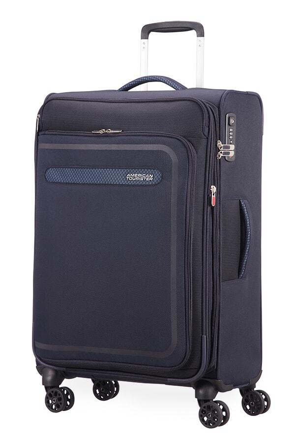 American Tourister Cestovní kufr AirBeat Spinner EXP 45G 69,5/75 l - tmavě modrá