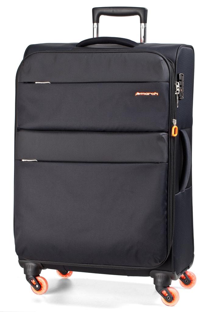 March Cestovní kufr Elle 100/117 l - černá