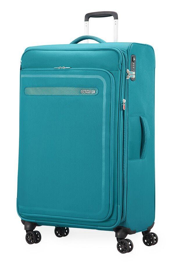 American Tourister Cestovní kufr AirBeat Spinner EXP 45G 104/112 l - tyrkysová