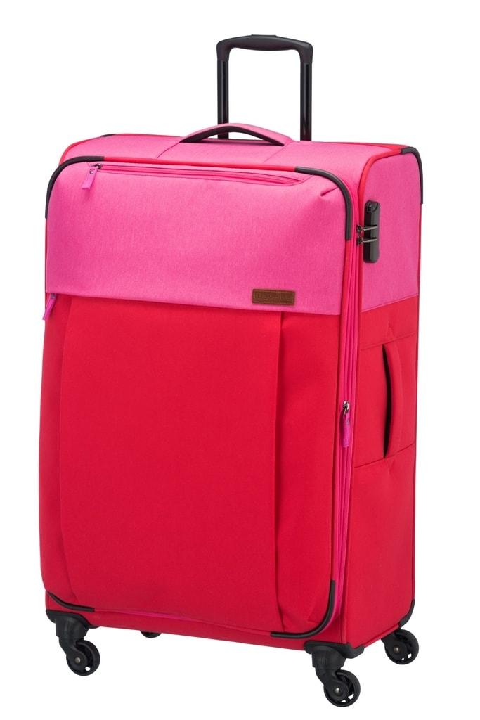 Travelite Velký cestovní kufr Neopak 92 l P38375 růžová, červená