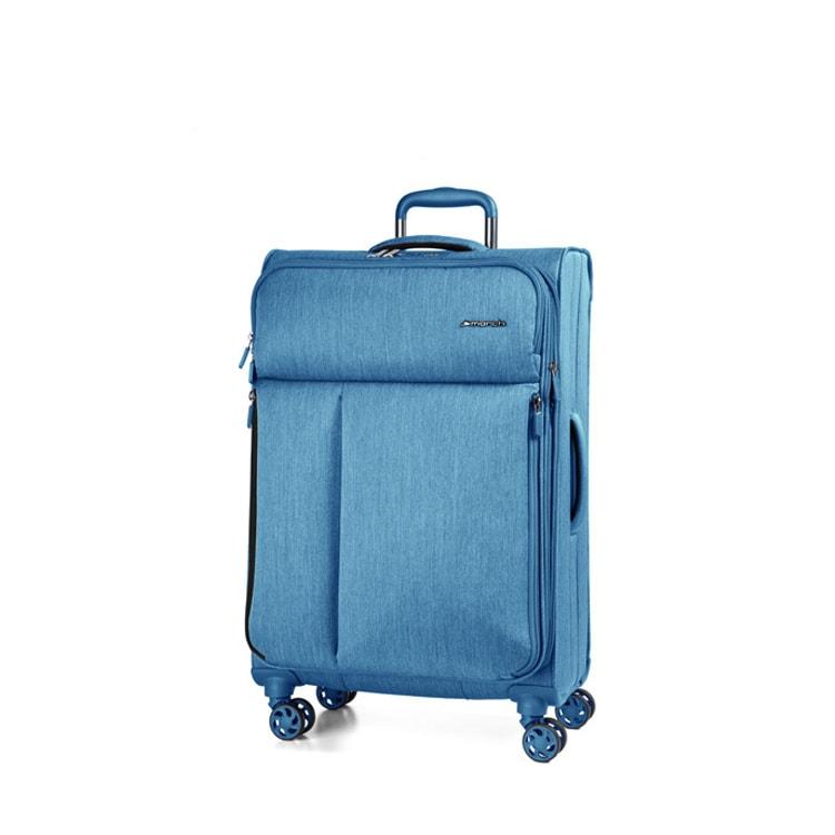 March Cestovní kufr Rally 104/121 l - modrá