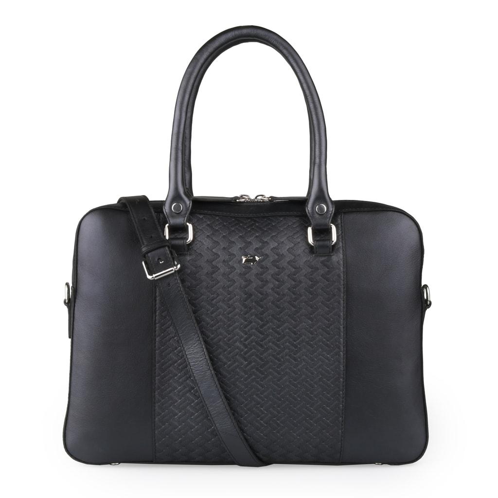 Braun Büffel Dámská kožená taška na notebook Salerno 47563 - černá