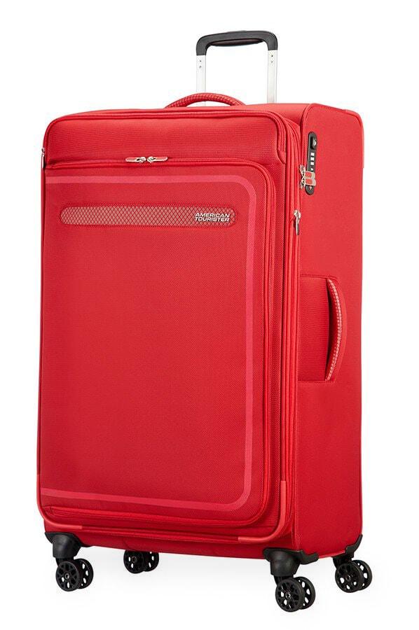 American Tourister Cestovní kufr AirBeat Spinner EXP 45G 104/112 l - červená