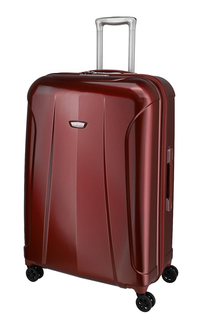 Travelite Cestovní kufr Elbe 4w L Red 105 l