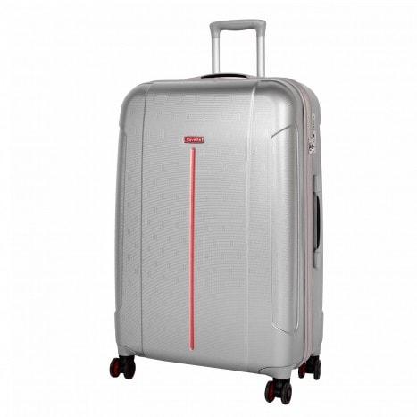 Travelite Cestovní kufr Echo L Silver 73449-56 106 l