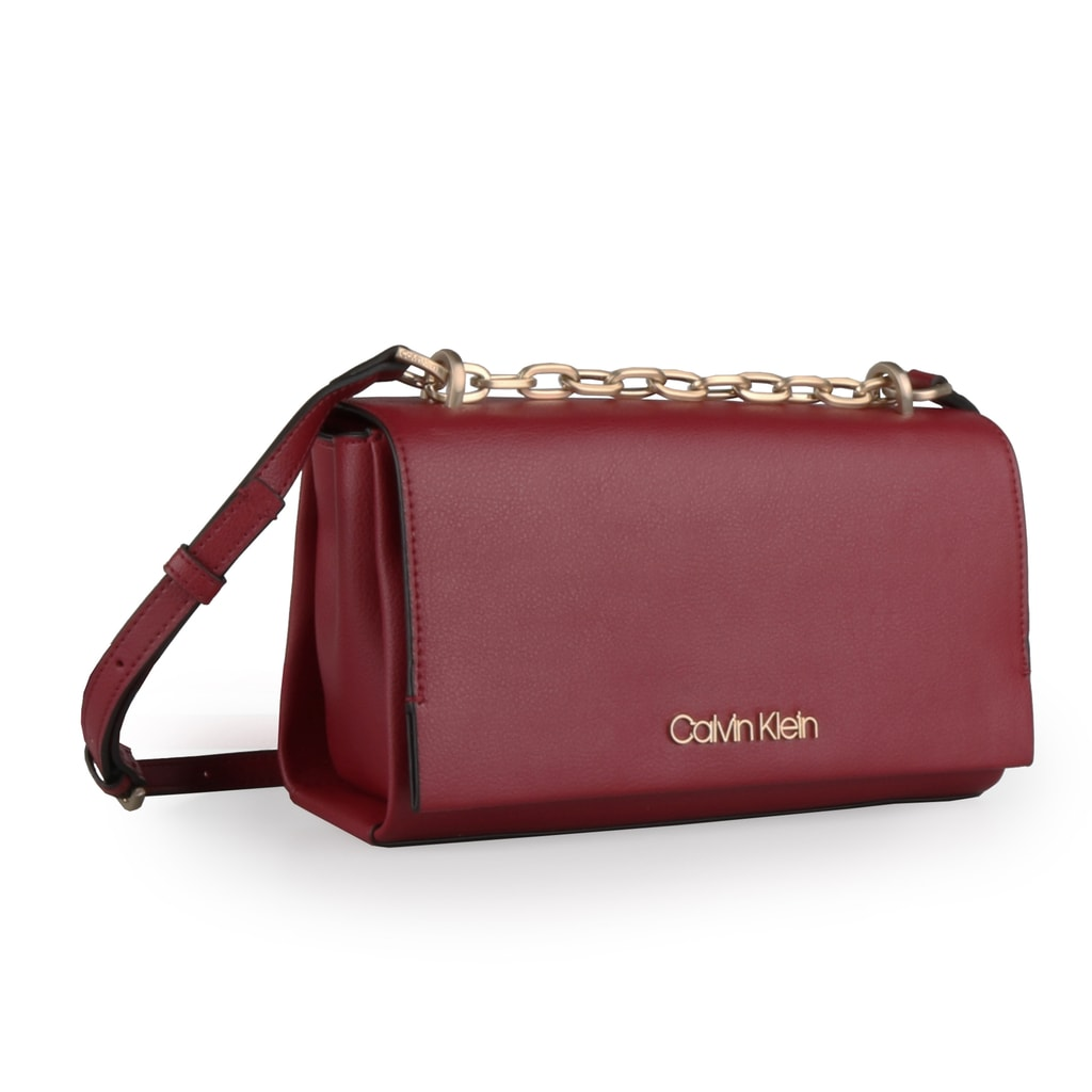 Calvin Klein Dámská kabelka přes rameno Frame K60K604593 - vínová