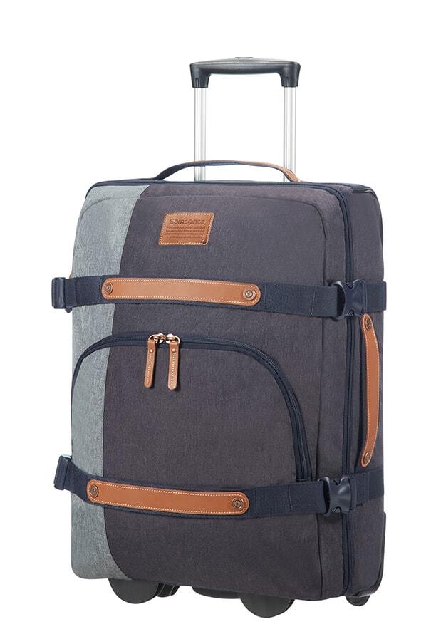 Samsonite Cestovní taška na kolečkách Rewind Natural 45 l - modrá