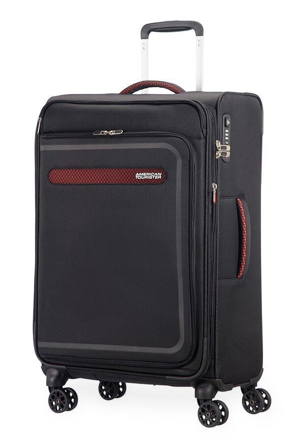 American Tourister Cestovní kufr AirBeat Spinner EXP 45G 69,5/75 l - černá