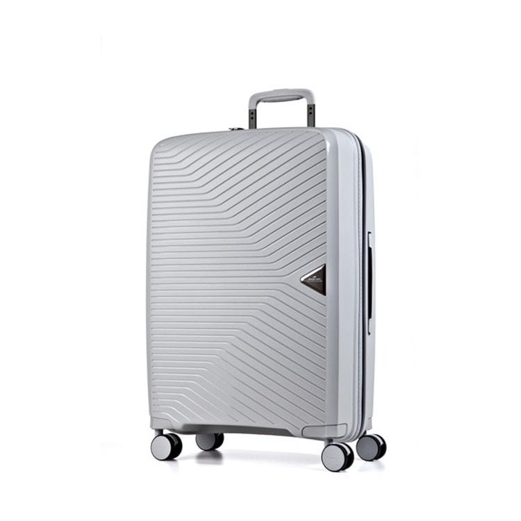 March Cestovní kufr Gotthard 111 l - stříbrná
