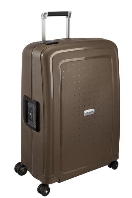 Samsonite Cestovní kufr S'Cure DLX Spinner U44 79 l - bronzová