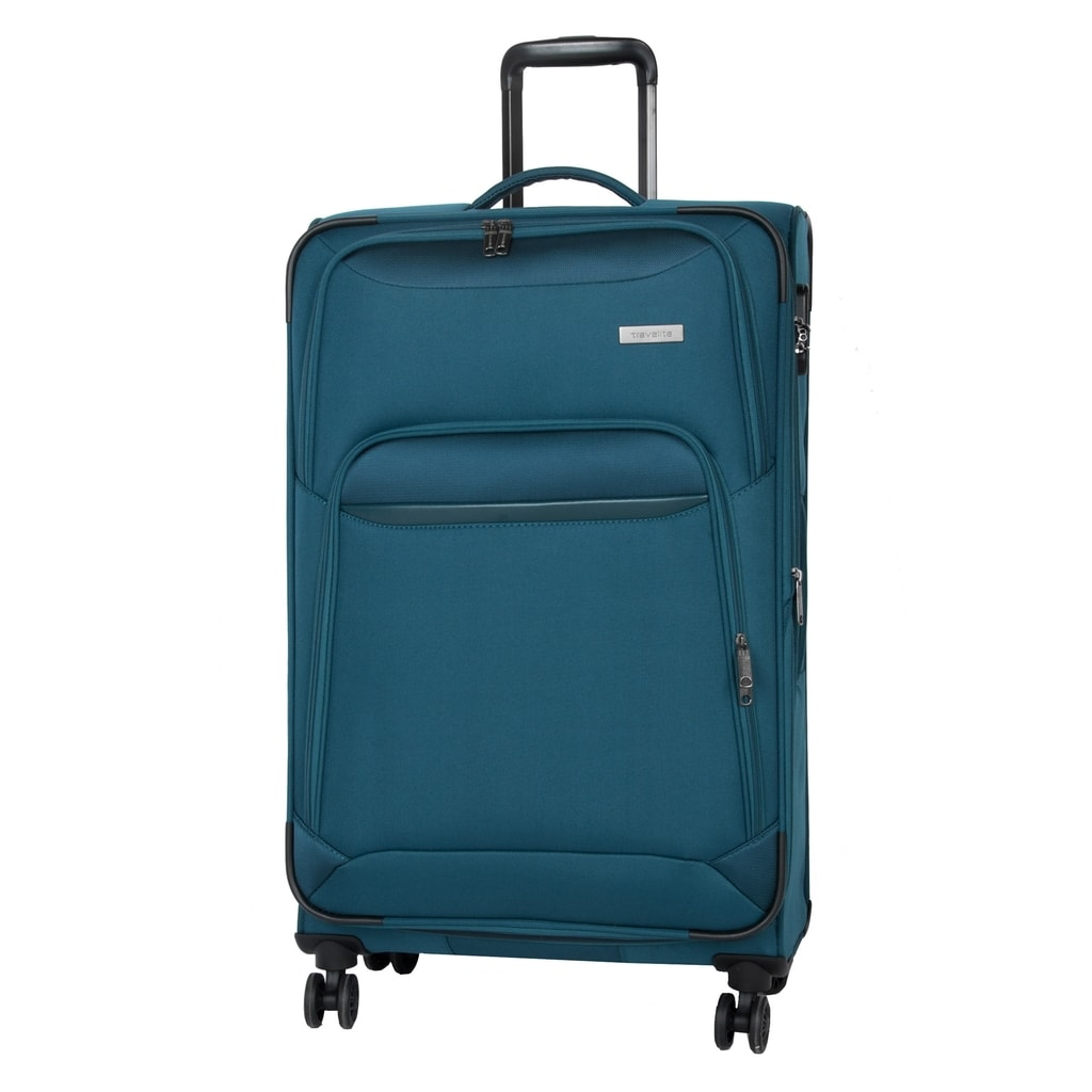 Travelite Cestovní kufr Kendo 4w L Petrol 84/97 l