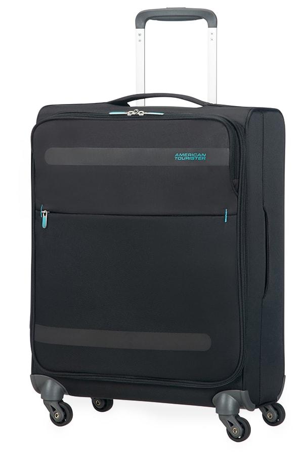 American Tourister Kabinový cestovní kufr Herolite Super Light Spinner 26G*002 42 l - černá