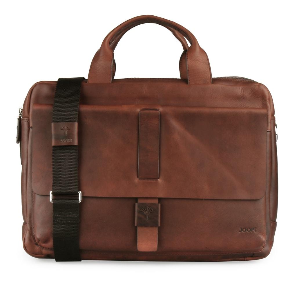 JOOP! Pánská kožená taška přes rameno Loreto 4140003463 - hnědá