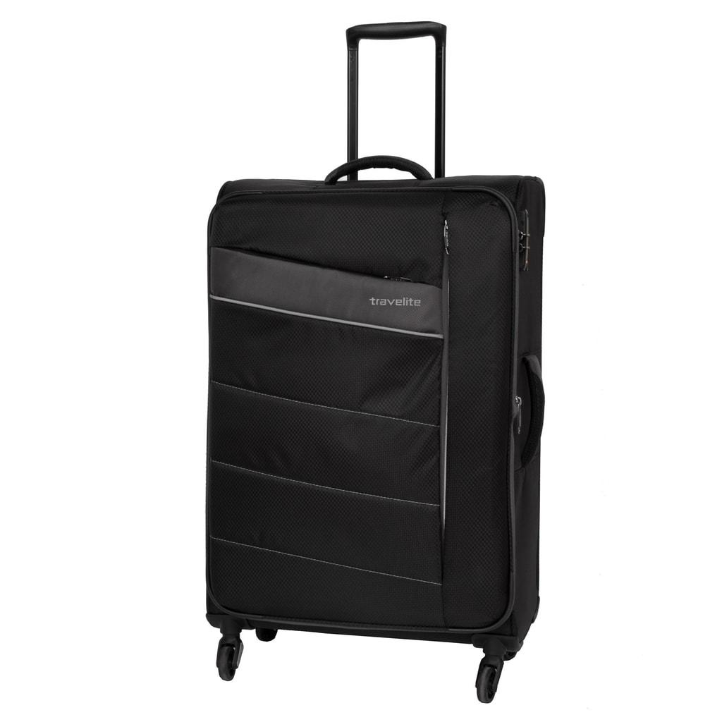 Travelite Cestovní kufr Kite 4w L Black 95/109 l