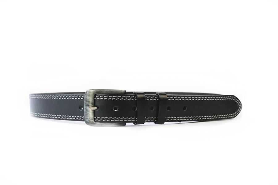 Penny Belts Pánský kožený opasek 02/2, černý