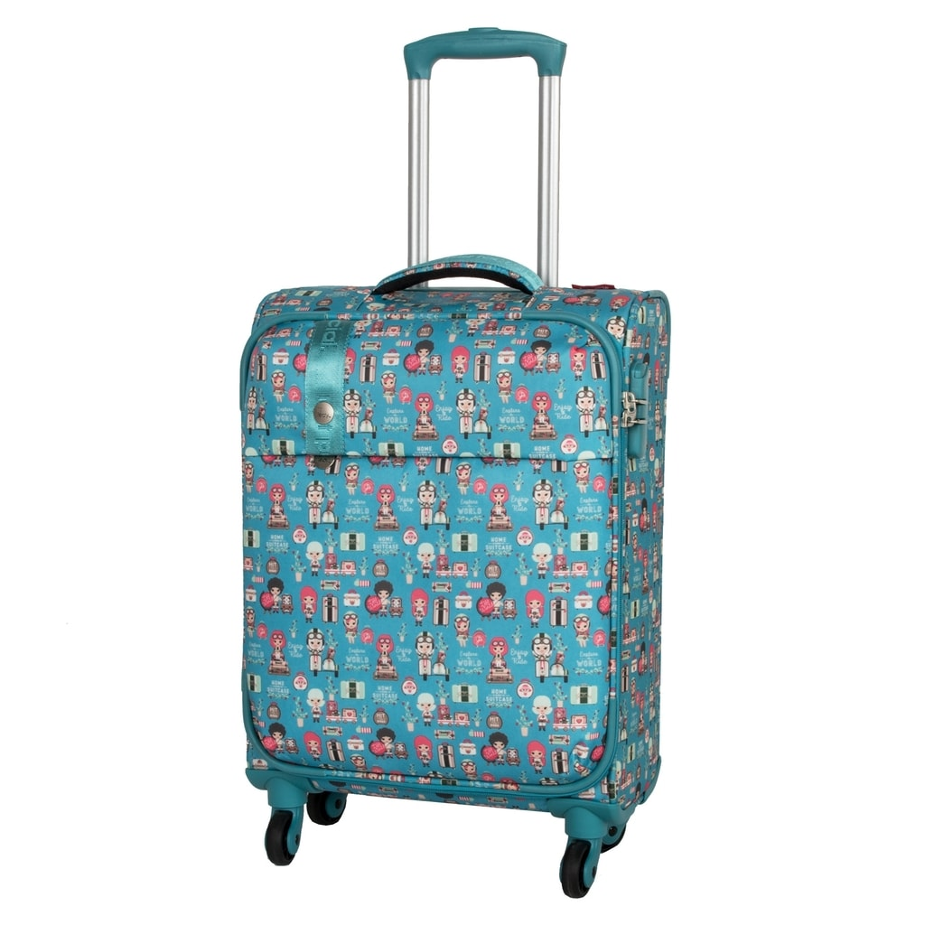 Travelite Kabinový cestovní kufr Lil' Ledy 4w S Turquoise 37 l