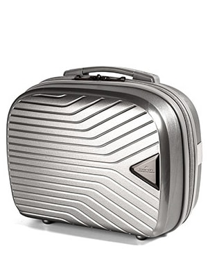 March Kosmetický kufřík Gotthard 16 l - stříbrná