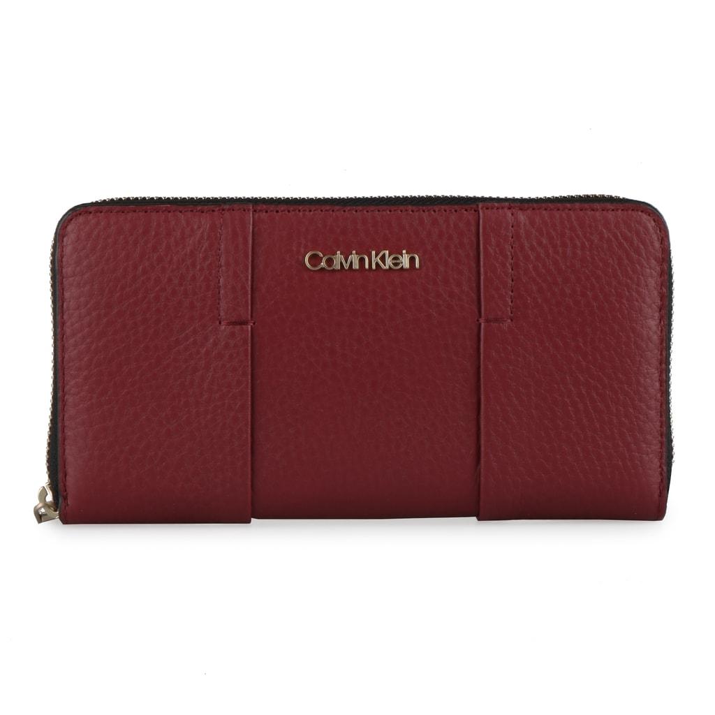 Calvin Klein Dámská kožená peněženka City Large K60K604494 - vínová